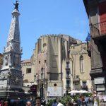 Napoli Piazza San Domenico Maggiore e guglia