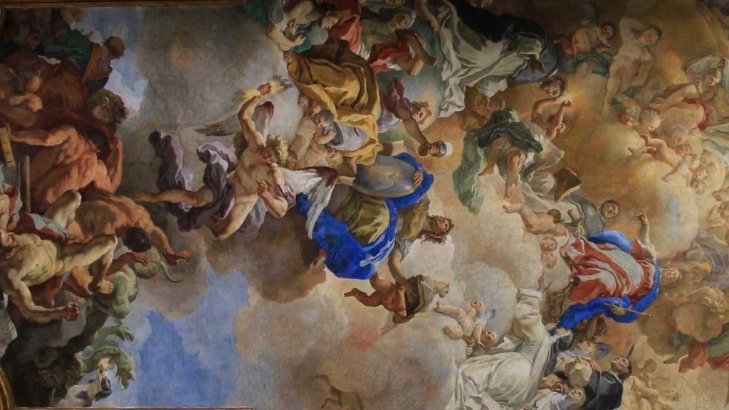 Sacrestia - Affresco Volta - San Domenico Maggiore Napoli