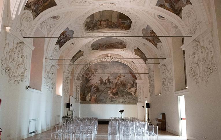 La restaurata Sala del Capitolo di San Domenico Maggiore in Napoli